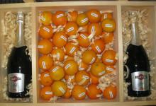Комплексные сувениры и подарки подарочный алкоголь, брендированные фрукты